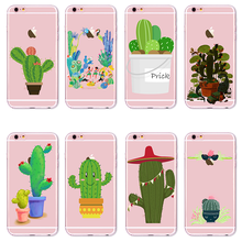 Southland Customs Succulents Tropical Plants Cactus Smart Phone Cases For iPhone 5 6 S 7 8 Plus X Back Cover New year POP Cute(China)