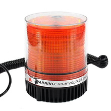 Amber Car Truck BUS Magnetic Warning Flash Beacon Strobe Emergency light 24V Warning Light