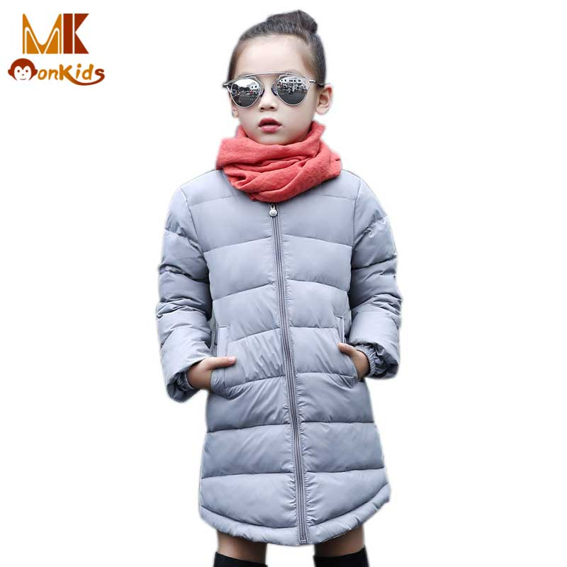 Monkids Winter Gilrs Coat Long Jacket Childrens Clothing Warm Thickening Kids Coat Jacket Outerwear Fashion Clothes Down TopsОдежда и ак�е��уары<br><br><br>Aliexpress