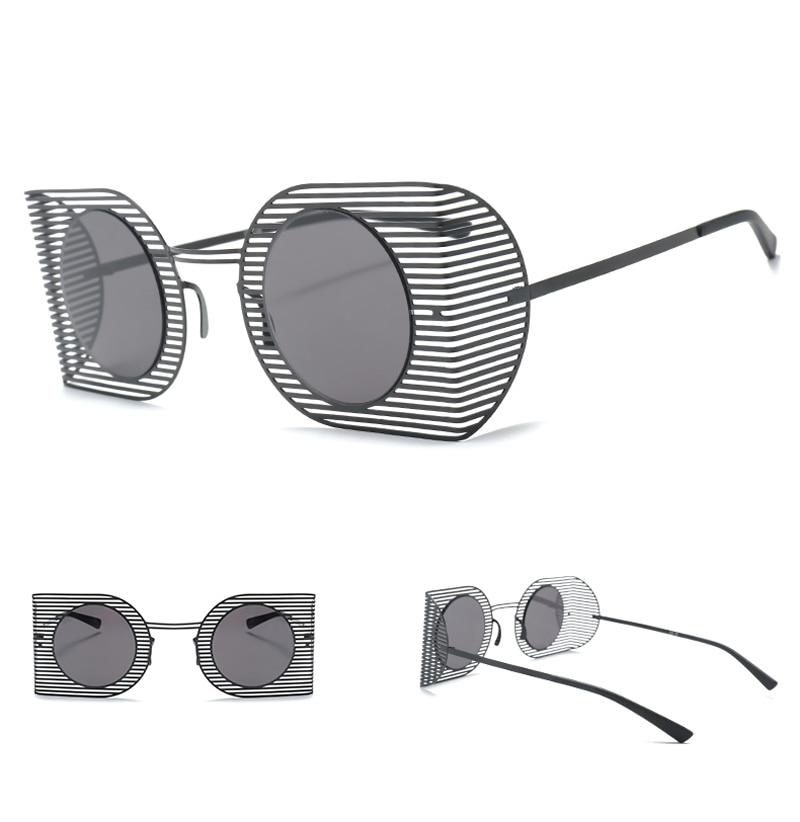 mens shield sunglasses women round black 7106 details (6)
