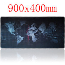 Super large 900x400mm rubber mouse pad computer game tablet mouse pad with edge locking
