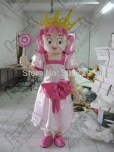 export high quality cartoon MASCOT COSTUMES Candy fairy mascot costumes pink princess fancy dress(China)
