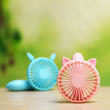 Free shipping 2017 foldable squirrel cat shape mini usb fan table hand 3 speed rechargeable mini fan students summer gifts