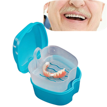 New Denture Bath Box Case Dental False Teeth Storage Box with Hanging Net Container Medical Grade PP Organizer Wholesale 30JY3