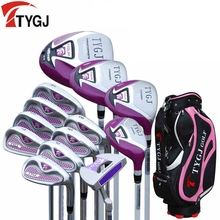 Brand TTYGJ ladies women golf clubs complete golf set with bag beginner exercise clubs golf irons set(China)