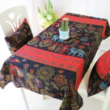 National style cloth printing Tablecloth dining table mat coffee tea table tablecloth bar restaurant decoration home decor AU580