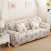 24colors Sofa-slipcover Flower Printed Universal Stretch Sofa Covers Polyester Modern Loveseat Couch Cover 1/2/3/4-seater(China)