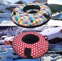 Souvenirs Double Ski Supplies Laps Inflated Tires Plastic Bottom Thickening Super Large Children Rubber Tire Ski Snow Tube 100cm