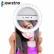 Phone's Selfie Flash Light Enhancing Light Up Lamp Rechargeable for Night Photography Take Photo for iPhone Android Phone