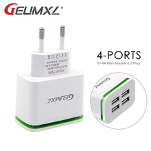 Buy GEUMXL USB Fast Charger iPhone 5 6 7 iPad Samsung 4-Ports 5V 4A Wall Adapter EU Plug Mobile Phone Charging Device for $5.00 in AliExpress store