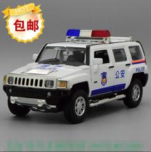 Candice guo alloy car model Diecasts Toy Vehicles police SWAT mini Hummer H3 city SUV jeep kid birthday christmas model gift 1pc