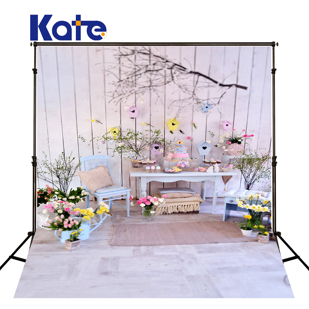 Kate White indoor wood 5x7ft photograph backdrop photo custom backdrop flower children backgrounds for photo studio<br>