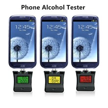 2pcs/lot Professional Police Alcohol Breathalyzer Digital Breath Alcohol Tester for iPhone 7 6S Samsung Sony Android