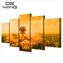 5 Piece Canvas Art Explode Death Mushroom Clouds Picture Kid Room Wall Decoration Frames Home Decor Canvas Print Wall Painting