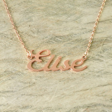 Personalized Romantic Gift Alloy Necklace Name Necklace Alloy Jewelry 3 Colors Name Pandent(China)