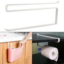 High Quality Roll Stand Under Cabinet Paper Roll Towel Hanging Holder Rack Stainless Metal Kitchen Storage Organizer
