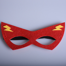 1pc Red Super Hero Masks Flash Cartoon Mask Kids Birthday Christmas Children's Day Festival Party Supplies Xmas Gift(China)