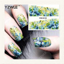 YZWLE  1 Sheet DIY Designer Water Transfer Nails Art Sticker / Nail Water Decals / Nail Stickers Accessories (YZW-8153)