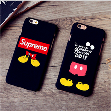 Luminous Supreme Case for iPhone 7 7Plus 5s 6 6s Plus Coque Fundas Luxury Matte Phone Cover Fashion Phone Case For iPhone7 Capa