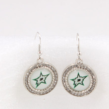Wholesale Dallas Stars Team Charm Dangle Earrings Ice Hockey Sport Fans Earrings For Women Birthday Party Gift