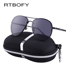 2017 RTBOFY UV400 Pilot Yurt Sun Glasses Men Sunglasses Brand Logo Design Driving Glasses Goggles Oculos de sol Gafas Eyewear(China)