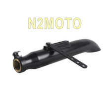 "Motorcycles Exhaust Muffler Pipe Universal for 1-3/8"", 1-1/2"", 1-5/8"" and 1-3/4"" Slash Cut Black Custom Vintage Silencer"