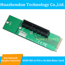 20PCS NGFF M2 to PCI-E 4X Slot Adapter Card M key M.2 port SSD Port to PCI Express Expansion Card(China)