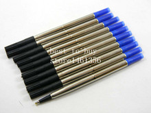 10pcs Blue Black Good Quality 0.7mm Rollerball Pen Refill