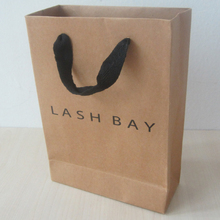200pcs/lot 28*20*10cm nature color paper bag free shipping art paper bag customized size available kraft paper bag with logo