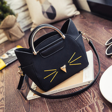 Areslans 2017 Women Bag Cute Cat Handbags Wing Shape Shoulder Crossbody Bolsas Femininas Cat Bag for Teenage Girls Messenger