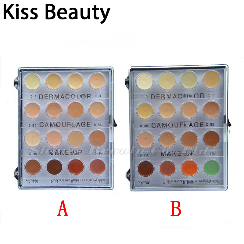 Kiss beauty makeup Dermacolor 16colors Camouflage creme palette Corretivo Paleta concealer contour foundation German brand<br>