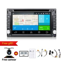 "6.2"" Android 6.0 WIFI Universal In Dash HD Touch Screen Car DVD Player Double Din GPS Navigation Stereo free camera & map"