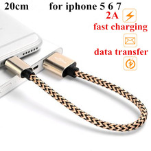20cm  2A MFI iOS10 Certificated 8pin to usb fast Charging Data Cable For iPhone 5 5S 6 6S Plus 7 for iPad Air 2 Transmit cord