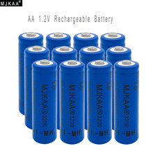 12pcs AA Ni-MH 3200mAh Battery 2A Batteries 1.2V AA Rechargeable Battery NI-MH battery for Remote control Toys LED lights(China)