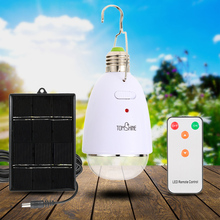 8 Brightness Solar Power Bulb Dimmable Remote Control Light Solar Powered Bulb 12 LED Indoor Outdoor Home Camping Tent Fishing(China)