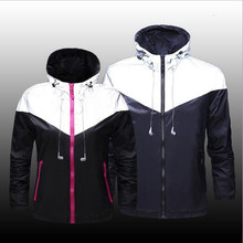 Men fashion Jacket With Headset Reflective 3M Jacket Hip Hop Waterproof Windbreaker luminous Men&Women night Coat jersey