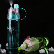 Hot Sale Spray Sport Water Bottle Portable Plastic Cups   Bike Bicycle Shaker My Water Bottles 400ml/600ml
