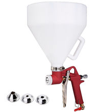 Free shipping Air Hopper Spray Gun Paint Texture Tool Drywall Wall Painting Sprayer with 3 Nozzle Blowout price(China)