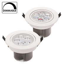 LED Downlight Dimmable CREE 15W 21W items White shell lights for home Bathroom living room kitchen lighting(China)