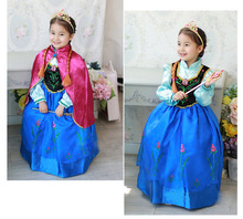 2016 New Summer Children Princess Dress Fever Elsa Costume Girls Dress Kids Girls Vestidos Party Cosplay Clothing Anna Dresses
