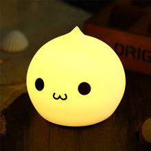 Mini Cartoon LED Colorful Silicone Water Drop Night Light Kids Baby Bedside Lamp Atmosphere Led Gift Light Bedside Lamp