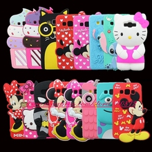 3D Silicon Kitty Stitch Cupcake Minnie Cartoon Soft Phone Skin Cover Case for Samsung Galaxy A3 A5 A7 E5 E7 J5 J7 G530 J2 Prime