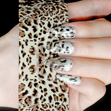 1 Roll = 4*100cm Nail Wholesale Products Nail Art Decal Leopard Nail Glue Transfer Foil Easy Use GL452