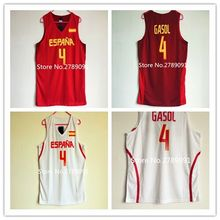 #4 Pau Gasol #5 Rudy Fernandez #79 Ricky Rubio Team Spain Espana Basketball Jersey Embroidery Stitched any Number and name(China)