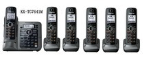 6 Handsets KX-TG7641 DECT 6.0 link-to-cell Digital wireless phone Cordless Phone(China)