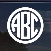 "CUSTOM CIRCLE MONOGRAM INITIALS Sigil vinyl HBO logo 5"" die cut vinyl Sticker decal for windows car truck laptop noteBook White(China)"
