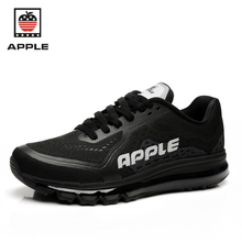 Apple original quality men's pvc mesh breathable full air sole Athletic shoes Brand new lace-up air cushion sport running shoes