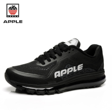 Apple original quality men's pvc mesh breathable full air sole Athletic shoes Brand new lace-up air cushion sport running shoes(China)