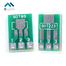 50pcs SOT89 To DIP SOT223 To DIP Adapter Board Transfer Plate Pinboard 1.5mm Pitch Pin Space Test PCB Electronic Circuirt Board(China)
