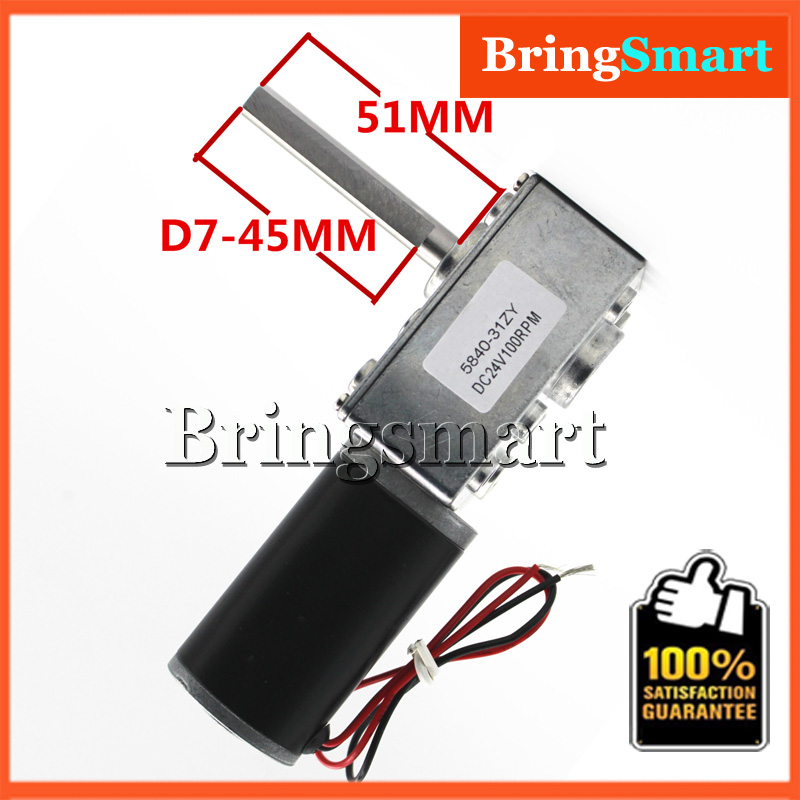 5840-31ZY DC 24V PMDC Worm Geared Motors High Torque 12V Volt DC Motor Reversed Reduction Motor Self-lock Extension Shaft Motor<br><br>Aliexpress